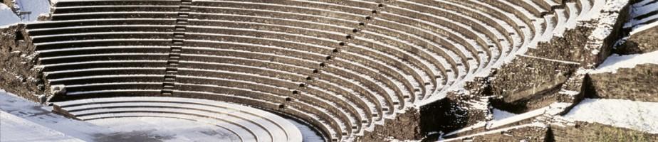 Le théâtre sur les pentes de la colline de Fourvière. © Musée gallo-romain de Lyon