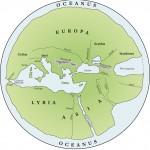 La mappemonde d'Hécatée de Milet (v. 500 av. J.-C.) dans une reconstitution du XIXe siècle