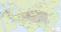 Les itinéraires terrestres de la route de la Soie à l'époque Han (c.IIIe s. av.-IIIe s. apr. J.-C. @ Archéothéma