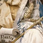 D'après Édouard Toudouze, Prédication d'Abélard, de la tenture des légendes bretonnes. Pièce tissée aux Gobelins de 1907 à 1909, détruite. Cliché P. Vaisse.