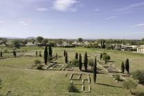 Vue générale de l'habitat antique de Lattara depuis le Musée archéologique. Cliché M. Kérignard, Région Languedoc-Roussillon, Inventaire Général, année 2008.