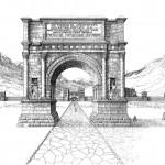 L'arc d'Auguste à Aoste.