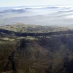 Vue aérienne de l'oppidum de Gergovie. Cliché CERAA.