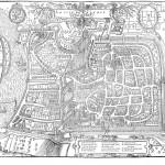 """""""Le Vray portaict de la ville et cité de Valence"""", gravé dans la Cosmographie de Belleforest, 1575. Collection Jacques Bénévise. © Musée des beaux-arts et d'archéologie."""