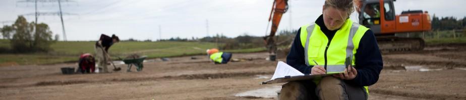 Vue du chantier de fouille à Lentilly. @ Flore Giraud pour Archeodunum