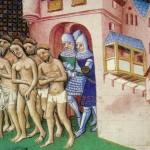 La population expulsée de Carcassonne en 1209 après la croisade et le siège de Simon de Montfort. Cliché Wikimedia Commons, 2011.