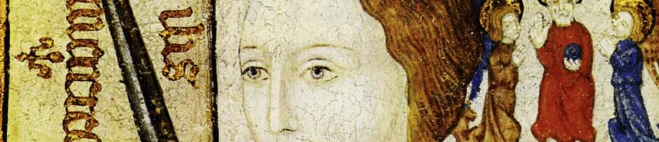 Portrait de Jeanne d'Arc en armure. Huile sur toile. Entre 1450 et 1500. Centre historique des archives nationales, Paris. Cliché Wikimedia Commons.
