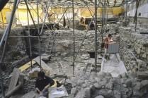 Chœur de la cathédrale nord en cours de dégagement. Cliché J.-B. Sevette.