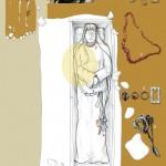 Doubs, la chambre funéraire remaniée ou pillée S. 401A. Plan J.-P. Urlacher,  dessin F. Passard-Urlacher,  DAO C. Schmitt.