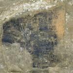 Le plancher brûlé lors d'un incendie, probablement durant le IIe siècle. © Hadès.