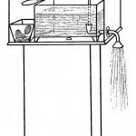 La première référence à un distributeur automatique se trouve dans l'œuvre de Héron d'Alexandrie, un ingénieur et mathématicien du Ier siècle ap. J.-C. La machine qu'il avait imaginée fonctionnait avec des pièces et distribuait de l'eau pour les libations.