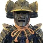 Partie supérieure d'une armure de  samouraï. Paris, Musée Guimet. Cliché Pom2, 2008. Wikimedia Commons.