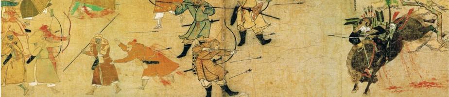 Compte rendu illustré des invasions mongoles. Musée des collections imperiales, Tokyo. Cliché Wikimedia Commons, 2009.