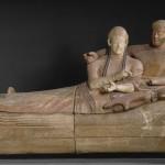 sarcophage des époux – terracotta colorée – vers 520 BC – collection Campana. Paris, musée du Louvre