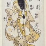 Nishimura Shigenobu (act. 1729-1739) Les trente-deux traits féminins (élément d'un triptyque) Epoque Edo, entre 1729 et 1739 Couleurs posées au pinceau, urushi-e Signature de l'auteur Cachet de l'éditeur Urokogataya Legs Isaac de Camondo, 1911 – EO 1708 © DR. MNAAG, Musée national des arts asiatiques-Guimet.