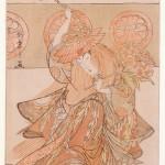 Katsukawa Shunshô (1726-1792) Scène de danse issue de l'adaptation au théâtre kabuki de la légende du temple Dôjôji: Yokobue Epoque Edo, 2e moitié du XVIIIe siècle Couleurs imprimées, benizuri-e Signature de l'auteur Donation Norbert Lagane, 2001 – MA 7001 © DR. MNAAG, Musée national des arts asiatiques-Guimet.