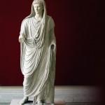 Statue d'Auguste de la  via Labicana. Roma,  Museo Nazionale Romano, Palazzo Massimo. Photo M. Tarpin, 2007.