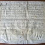 Charte de fondation du prieuré royal Saint-Louis de Poissy, juillet 1304, coll. CEHA.