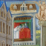 Le livre des faits de Monseigneur Saint Louis, BNF manuscrits, fr., 2829, f° 7 (détail) (vers 1482).