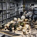 L'éventail des trouvailles, restaurées et en cours  de restauration au Musée  à Lausanne.  © Berthold Steinhilber.