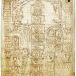 Arbre généalogique des Carolingiens. Miniature du XIIe siècle. 25x14,5 cm. Cliché Wikimedia Commons, 2013.