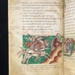La cavalerie carolingienne. Psautier dit de Stuttgart, réalisé à l'abbaye Saint-Germain-des-Près. Première moitié du IXe siècle. D.R.