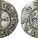 Denier de Charlemagne. Gwedoline Lequenne, 2012. Wikimedia Commons.