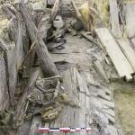 Vue générale d'une partie effondrée de la galerie du Kilianenstollen en cours de fouille