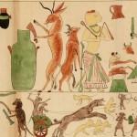 Copie du papyrus satirique de Turin (E 11656). Papier vélin, graphite, gouache. H. 21 ; L. 283,5 cm. Époque moderne (vers 1825-1850). © Musée du Louvre, Dist. RMN-Grand Palais/Christian Decamps.