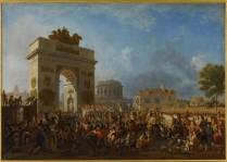 Nicolas-Antoine Taunay (1755-1830), Entrée de la Garde Impériale à Paris par la barrière de Pantin, 25 novembre 1807. Huile sur toile 157,5 x 223 cm. Château de Versailles. © RMN-Grand Palais (Château de Versailles)/Franck Raux