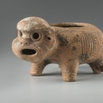 Boîte à llipta. Culture Mayo Chinchipe-Marañón (3500-500 av. J.-C.). Céramique. © musée du quai Branly, photo de Christophe Hirtz.