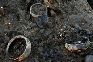 Restes de repas dans des céramiques. © Cambridge archaeological unit.  DR.