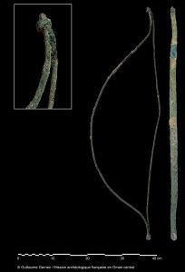 Mudhmar Est. Arc non utilitaire, intégralement en cuivre/bronze. © Guillaume Gernez/Mission archéologique française en Oman central.