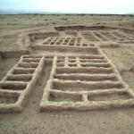 Vue photographique du site archéologique MR2 à Mehrgarh, occupé de 4 500 à 3 600 avant J.-C., où a été retrouvée l'amulette. Cliché C. Jarrige © Mission archéologique de l'Indus.