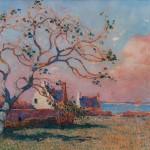 Ferdinand Loyen du PUIGAUDEAU, Le vieux figuier à Pernerf, non datée, huile sur toile, collection particulière. © photo service de presse.