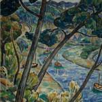Adolphe BEAUFRERE, Bords de la Laïta, 1948, huile sur panneau, Collection particulière. © Bertrand Legros. Photo service de presse.