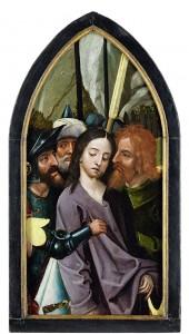 Maître de 1518, L'Arrestation du Christ. Premier tiers du XVIe siècle. Huile sur bois Cassel, musée départemental de Flandre.