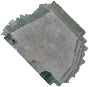 Vue aérienne du site d'Auneau, Les Nonains. © Archeodunum SAS.