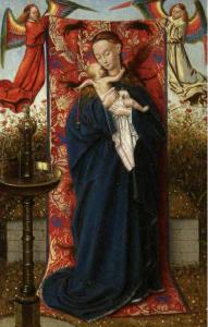 Jan van Eyck et atelier, Vierge à la fontaine, vers 1430, huile sur bois, Paxton, Paxton House  ©The Paxton Trust. Photo service dde presse.