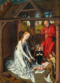 Hans Memling et atelier, Nativité, Vers 1480, huile sur bois, Anvers, fondation Phoebus© Antwerp, The Phoebus Foundation. Photo service de presse.