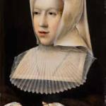 Bernard van Orley, Portrait de Marguerite d'Autriche, Après 1518, huile sur bois, Bourg-en-Bresse, musée du Monastère royal de Brou. © Hugo Maetens / MRB. Photo service de presse.