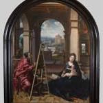Pieter Coecke Van Aelst, Saint Luc peignant la Vierge, vers 1535-1540, huile sur bois, Nîmes, musée des Beaux-arts. © Florent Gardin. Photo service de presse.