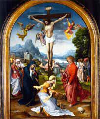 Jan de Beer, Cruciἀxion, vers 1510-1515, huile sur bois, collection particulière. © wengraf. Photo service de presse.