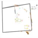 Plan des vestiges néolithiques et antiques. © Archeodunum SAS