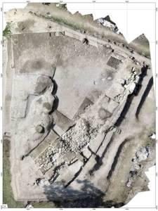 Vue du chantier de fouilles archéologiques du Cailar (Gard), France. © Fouille Programmée Le Cailar-UMR5140-ASM. Photo de presse.
