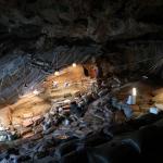 Fouilles à Border Cave conduites par l'équipe franco-sud-africaine. © Lucinda Backwell.