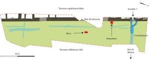 Fig. 2 : Plan des principaux vestiges. DR.