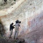 Dans le cadre d'un documentaire, une équipe de tournage a suivi les chantiers de fouille. DR.