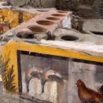 Le comptopir avec cles canards morts et le coq. © Parco Archeologico di, Pompei. Photo de presse.