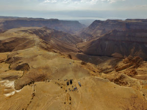 1. IAA operation aerial view. Credit- Guy Fitoussi, Israel Antiquities Authority. DR.